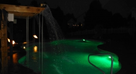Green-LED-intellibrite-pergola-tiered-deck-cantiliever-coping-bartop-aquasonic-speaker