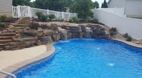 Rock Waterfall and Deck Jets