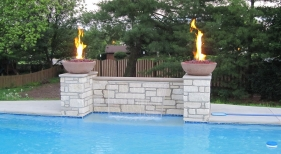 Raised Fire Bowls and Sheer Descents