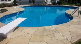 Freeform Pool with Diving Board