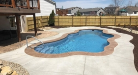 Freeform Pool with Concrete Decking