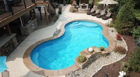 Freeform Pool with Tanning Ledge