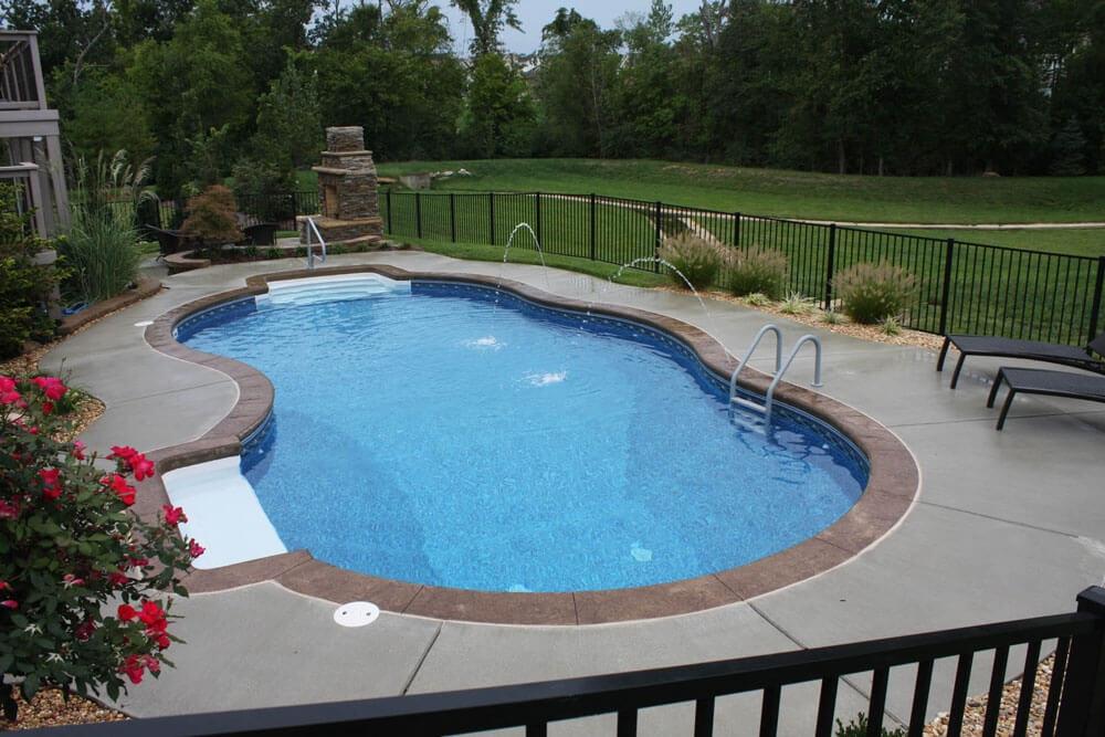 St Louis Pool Photos St Charles Fiberglass Pool Photos