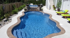 Cancun-Caribbean-Viking-fiberglass-fire-bowl-sheer-decent-hot-tub-spa-stamped-concrete.