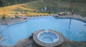 Negative Edge Pool with Raised Spa