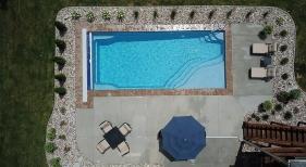 Geometric Pool with Tanning Ledge