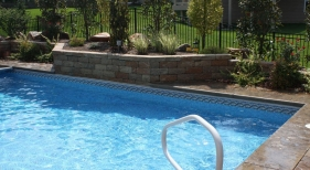 paver deck retaining wall landscape sheer decent water feature Chesterfield Grover