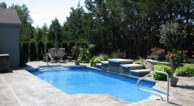 Fiberglass Pool with Sheer Descents