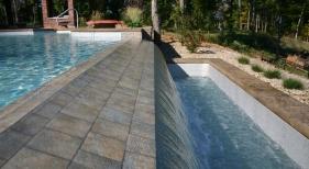 Tile-spillway-catch-basin-landscape-sheer-decent-waterfall-water-bowl-water-feature-infinity