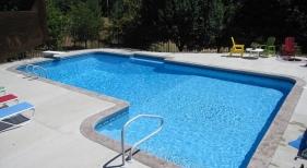 Colorful-pool-furniture-deep-diving-pool-L-shape-radius-corner-bench-camelback-ladder-1